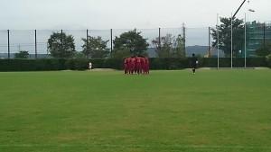 試合開始前 金沢高校